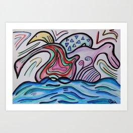 Water Shapes Art Print