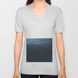 Calm Ocean Sailboat Unisex V-Neck