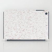 writing iPad Cases featuring Vintage Writing by ForeverCreativity