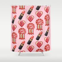 feminist Shower Curtains featuring Feminist by King Sophie's World