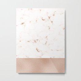 Marble X Foil Metal Print