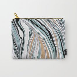 Teal Scape Carry-All Pouch