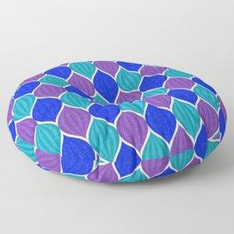 Retro Disco Jeweled Drops Pattern - Blue Purple Teal Floor Pillow