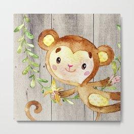 Monkey Fun Metal Print