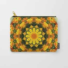 Floral mandala-style, California Poppies Carry-All Pouch