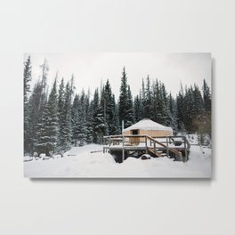 Yurt Life Metal Print