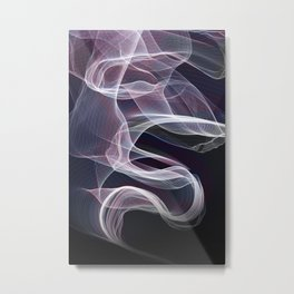 Moody & Beautiful Smoky lacy flux - black, blue, pink #abstractart Metal Print