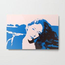Miss Blue Metal Print