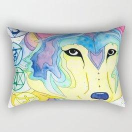 Chakra Wolf Rectangular Pillow