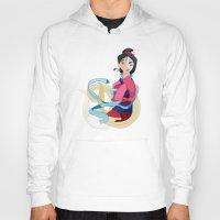 mulan Hoodies featuring Mulan: Reflection by Minette Wasserman