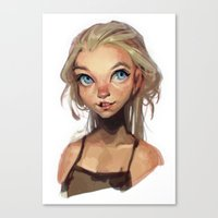 loish Canvas Prints featuring freckles by loish