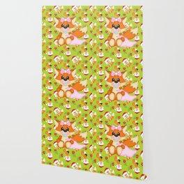 Foxy Christmas Baby Girl Wallpaper