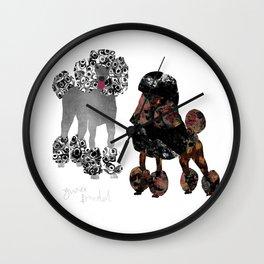 Zwei Pudel Wall Clock
