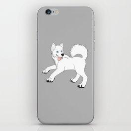 Husky (White) iPhone Skin