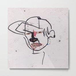 Basquiat Man 3 Metal Print