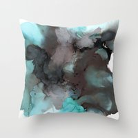 pool Throw Pillows featuring Pool by Amie Amyotte