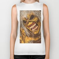 eddie vedder Biker Tanks featuring Eddie  by Kim Shady