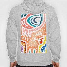 Pop Acid Abstract Street Art Pattern Pastel Colors Hoody