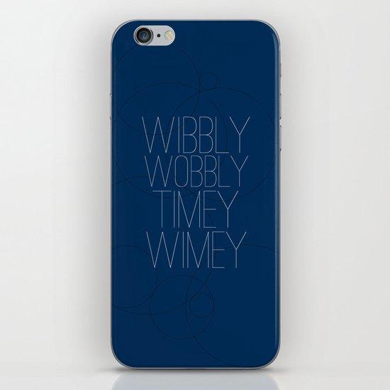 Wibbly Wobbly Timey Wimey iPhone & iPod Skin