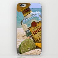 tequila iPhone & iPod Skins featuring Tequila! by Brocoli ArtPrint