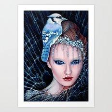 geai bleu Art Print