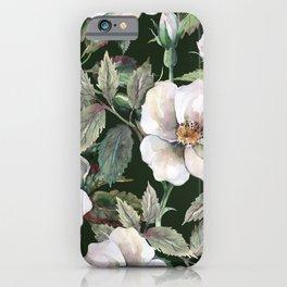 Vintage roses flower in the garden illustration pattern iPhone Case