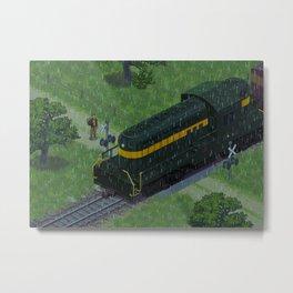 Train and Rain Metal Print