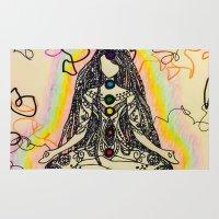 chakra Area & Throw Rugs featuring chakra Dreads by Bethany Katarina Art