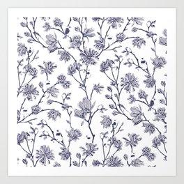 Magnolia Chinoiserie Art Print