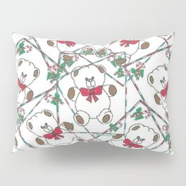 """ Christmas Teddy Pattern "" Pillow Sham"