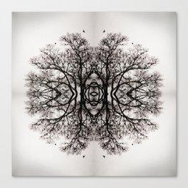 Winter Storm Ink Blot Canvas Print