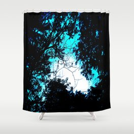 Color Bleed Leaves Shower Curtain