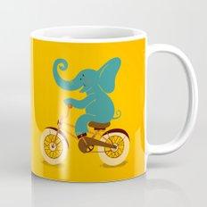 Elephant on the bike Mug