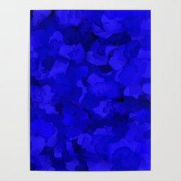 Rich Cobalt Blue Abstract Poster