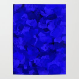 Rich Cobalt Blue Abstract Poster
