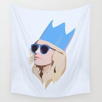 queen Wall Tapestries featuring Queen by Anna McKay