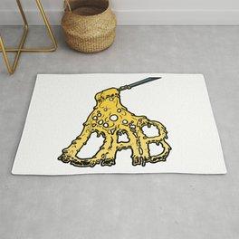 Melting DAB cannabis marijuana art design Rug