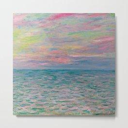 """Claude Monet """"Coucher de soleil à Pourville, pleine mer"""" Metal Print"""