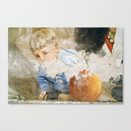 Murales in Flussio on the Isle of Sardinia Canvas Print