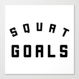 Squat Goals Canvas Print
