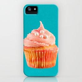 Cupcake Love | Pink & Pearls on Aqua iPhone Case