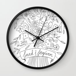 Loved & Forgiven Wall Clock