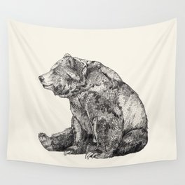 Bear // Graphite Wall Tapestry