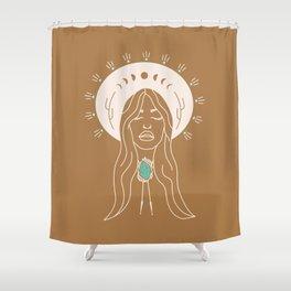 Desert Angel in Camel & Turquoise Shower Curtain