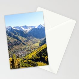Overlooking Telluride in the Fall Stationery Cards