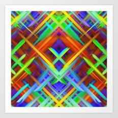 Colorful digital art splashing G466 Art Print