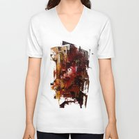 portal V-neck T-shirts featuring portal by sewec