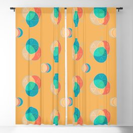 Cute Color Wheel Seamless Pattern Blackout Curtain