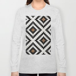 Urban Tribal Pattern No.16 - Aztec - Concrete and Wood Long Sleeve T-shirt