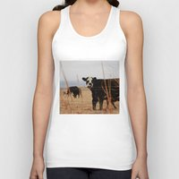 cows Tank Tops featuring Moo Cows by Artwork by Brie